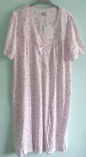 'LA MARQUISE' POLYESTER/COTTON SHORT SLEEVED  PINK FLORAL MIX NIGHTY(SIZE 16/18)