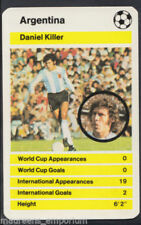 Argentina Football Trading Cards 1978 Season