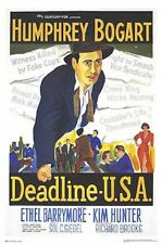 DEADLINE USA MOVIE POSTER ~ REGULAR 26x38  Humphrey Bogart Newspaper