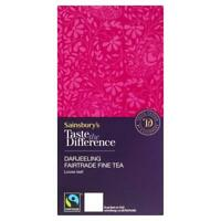 Sainsbury's Darjeeling Loose Tea, Taste the Difference 125g