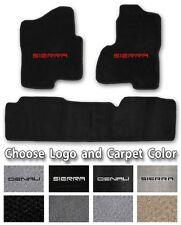 1999-2018 GMC Sierra 3pc Carpet Floor Mats - Choose Color & Official Logo