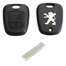 Peugeot 107 207 307 407 2 Button Replacement Remote Key Fob Case and HU83 Blade