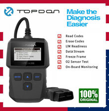 AL200 OBDII Code Reader Scanner Check Engine Light O2 Sensor Test I/M Readiness
