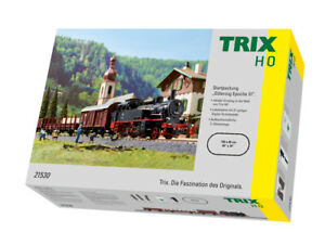 Trix H0 Starter Set Tender Br 74 With Car, Rails And Throttle Control