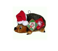 HOLIDAY Hedgehog w/Santa Hat for Dog Toy - Jr - Grunts & Rattles - Lot's of Fun!