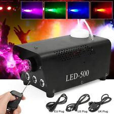 RGB LED Nebelmaschine Stage DJ Party Fog Rauchmaschine Fogger Nebelgerät EU Set
