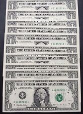 1995 STAR NOTE $1 Dollar CHICAGO, Crisp ,Uncirculated ,Consecutive