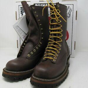 """White's Boots, 400LTT-V, 10 D, 10"""". Vibram sole."""