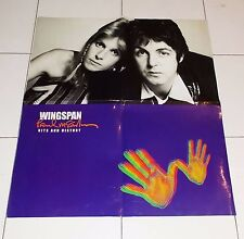 Manifesto Promo PAUL McCARTNEY Wingspan Hits and History POSTER Wings Affiche