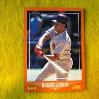ROBERTO ALOMAR 1988 SCORE ROOKIE TRADED ROOKIE BASEBALL CARD #105T RC