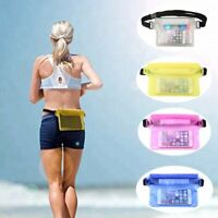 Cell Phone Underwater Swim Waterproof Waist Pouch Belt Bag Dry Case Holder Cover