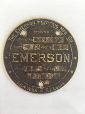 Antique Emerson Ceiling Fan ID Tag