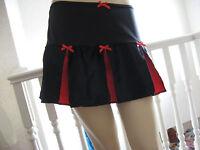 Roller Derby Skirt Gothic Black Red Pink satin Cheerleader Punk Biker festival