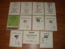 MARTIN~ESKA~SEARS`CHOOSE 1 FROM LIST-PARTS LIST & OWNERS MANUAL-1946-1980