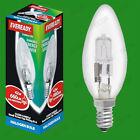 8x 42w (= 60w) Regulable Halógeno Transparente bombillas tipo vela, SES E14