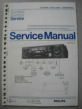 PHILIPS 22 ac674/22 Cassetta Autoradio service manual