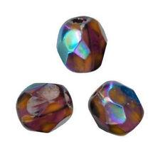 50 Perles Facettes de boheme 4mm - AMETHYSTE AMETHYST CHAMPAGNE AB