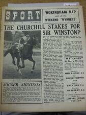 """18/06/1954 SPORT MAGAZINE: Vol.16, No.336 - """"IL Churchill paletti per SIR"""" CAVALLO"""
