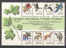 USA 1978 Goose/Duck/Birds/Fox/Deer/Animals/CAPEX/Nature/Wildlife 8v m/s (n25434)