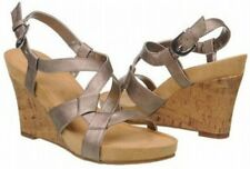 Aerosoles Plush Up strappy wedge sandals gold 11 Md NEW