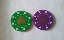 Fat Bankers Lot Two 2020 Poker Chips Mardi Gras Doubloons Coins Tokens