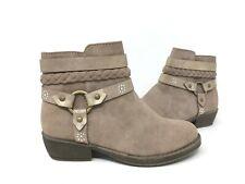 NEW! SO Youth Girls Dakota Zipper Strappy Ankle Boots Stone #66551 191EEFFGG tk