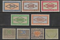 Stamp Germany Reich Revenue Tax Stempel Fiscal Official Fee Selection Lot MNH
