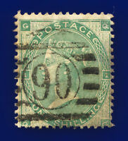 1862 SG90 1s Green J101(2) QG Misperf Misplaced Watermark Good Used CV £300 cdno