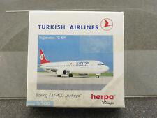 Herpa 501316 Boeing 737-400 Turkish Airlines Antalya Airplan OVP 1606-23-30