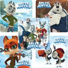 20 Arctic Justice STICKERS Party Favors Supplies for Birthday Treat Loot Bags