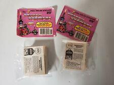 1986 Transformers G1 Diamond The Movie Complete  Set 225 Stickers Album