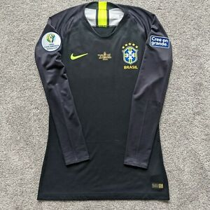 Nike Brazil 2019 Copa America Player Issue GK Jersey w/ Patches sz M 910340-010