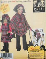 Child Girl Fleece Pants Jumper Poncho Hat Purse Patty Reed Simplicity 4898