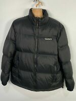 MENS TIMBERLAND XXL BLACK ZIP UP DOWN PADDED PUFFER CASUAL WINTER COAT JACKET