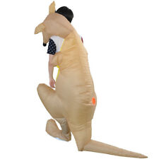 Funny Kangaroo Inflatable Adult Costume Blowup Halloween Cosplay Party Suit
