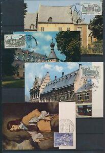 XC79230 Belgium 1964 -1973 art & monuments landmarks maxicards used