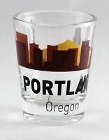 PORTLAND OREGON SUNSET SKYLINE SHOT GLASS SHOTGLASS