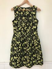 Cue in the CIty Size 12 Pleated Zip Back A-Line Dress Office City Lined