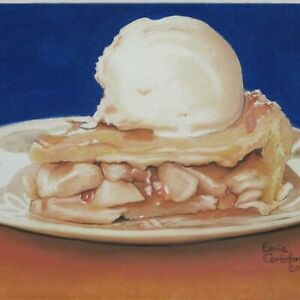 Still Life Artwork #317 Pastel Painting Apple Pie á la Mode