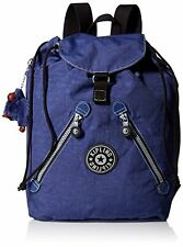 NWT Kipling Fundamental Multipurpose Drawstring Backpack Bookbag Sea Glass Blue
