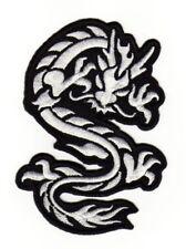 an90 Drache Asien Tattoo Dragon Aufnäher Bügelbild Applikation 11,5 x 8,0 cm