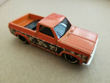 2017 Hot Wheels 83 CHEVY SILVERADO 4/8 Camouflage Truck Series LOOSE Orange