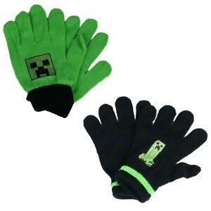 Minecraft Creeper Kinder Finger Handschuhe Einheitsgröße 3 bis ca. 10 jahre