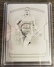 2019 Panini National Treasures Black Plate 1/1 Tobias Harris Detroit Pistons