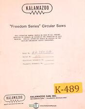 Kalamazoo Freedom Series Fa 350 Sa Saws Operations Parts Electric Manual