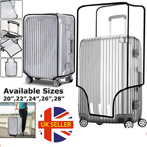 Clear PVC Travel Luggage Protector Suitcase Case Cover 20 22 24 26 28 inch UK