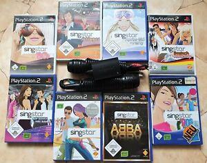Playstation 2 Auswahl Singstar Spiele und Mikrofone für PS2