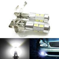 2PCS Beam Bulb Car Driving Fog Light White 12V H3 10-SMD 5630 LED Light UK