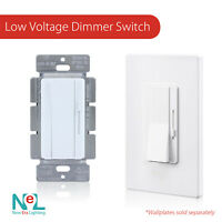 0-10V Low Voltage Dimmer Switch for LED and Fluorescent Fixtures, White