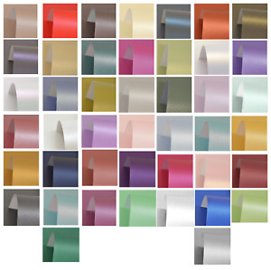 PURE Pearl A4 Single Sided Pearlescent Card 300gsm Pearlised Choose Colors Qty